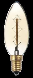 Jazzway Лампа накаливания RETRO C35 GOLD 40W E14 арт. .2858290