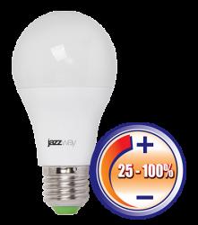 Jazzway Лампа светодиодная (LED) «груша» d60мм E27 220° 12Вт 220-230В опаловая тепло-белая желтая 3000К диммируемая арт. .2855879