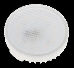 Jazzway Лампа светодиодная (LED) «таблетка» d75мм GX53 100° 10Вт 220-230В матовая тепло-белая желтая 3000К арт. .1029072