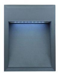 LL LED BILEO F 1,8W Светильник для дек. подс, встр в стену, сереб, 27xLED, IP65 4000К 234х185х94 арт. 329500