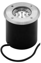 LL LED MODO 12H Светильник встраиваемый в грунт, серебро, 1,2W, 12 LED, IP65 арт. 140259