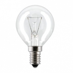 Лампа накаливания «шар» d45мм E14 25Вт 220-230В прозрачная General Electric арт. 19781