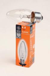 Лампа накаливания «свеча» d35мм E27 60Вт 220-230В прозрачная General Electric арт. 10873