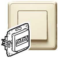 Legrand Cariva Крем Блок Выключатель 1-клав + Выключатель 2-х клав + Розетка с/з арт. 773744