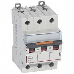 Legrand DX3 Автоматический выключатель 3P MA 4A 25кА арт. 409878