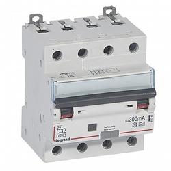 Legrand DX3 Дифференциальный автоматический выключатель 4P 32А (С) 300MA-A арт. 411242