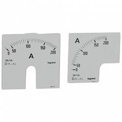 Legrand Измерительная шкала (1 круглая + 1 квадратная) для аналоговых амперметров 0-250A арт. 014616