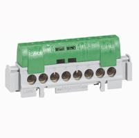 Legrand Клеммная колодка - IP 2X - земля - 1 ввод 6-25 мм2 - зеленый - длина 227 мм арт. 004837