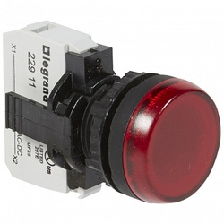 Legrand Osmoz Лампа-индикатор в сборе с подсветкой красный 130 B~ арт. 023781
