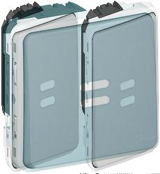 Legrand Plexo Серый Мех Выключатель 1-клавишный с/п с задержкой отключения арт. 069504