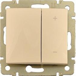Legrand Valena Крем Светорегулятор нажимной 40-600W для л/н и обмоточных т-ров арт. 774174