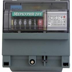 Меркурий Электросчетчик 201.6 на DIN-рейку 10-80А/220В 1Ф 1т. Механика арт. Меркурий 201.6
