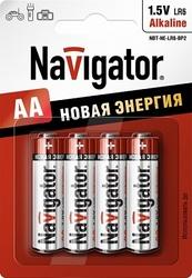 Navigator Элемент питания alkaline AA 1.5B NBT-NE-LR6-BP4 арт. 94753