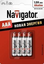 Navigator Элемент питания alkaline AAA 1.5B NBT-NE-LR03-BP4 арт. 94751