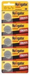 Navigator Элемент питания lithium 2025 3B NBT-CR2025-BP5 арт. 94764
