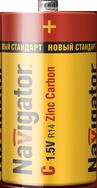 Navigator Элемент питания zinc carbon C 1.5B NBT-NS-R14-BP2 арт. 94768