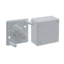 PE Коробка клеммная, наруж.монтаж, 55х55х30мм, клеммная колодка 4мм2, IP42, сер арт. PE 410 142/04 С