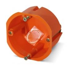 PE Коробка монтажная 1-ая для полых стен d=68 глубина 50мм, с крепежом и увеличенным фланцем IP20 арт. РЕ 030-022