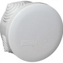 PE Коробка распределительная, круглая, 4 ввода, IP55, D70x40мм арт. PE 120 070