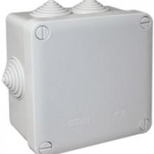 PE Коробка распределительная, квадратная, 7 вводов, IP55, 105x105x57мм арт. PE 120 105