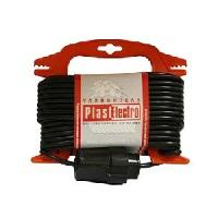 """PE Удлинитель на рамке """"Compact"""" 10м, 2х1 мм.кв., черный арт. РЕ 201 110/b"""