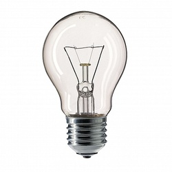 Pila Лампа накаливания груша A55 75W 230V E27 CL.1CT/12X10F арт. 926000005585
