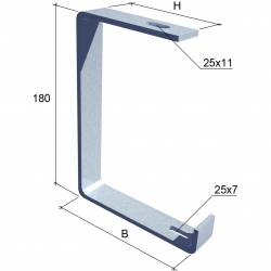Потолочное крепление для кабельного лотка КМ-Профиль арт. SPV200