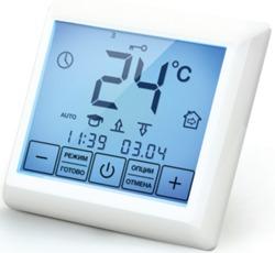 Регулятор температуры пола комплект (в сборе) С/У 16А 45°C резистивный датчик белый IP21 ССТ арт. 430565131421000001