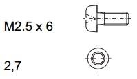 Rittal Винт M2.5x10 + шайба, 100 шт арт. 3684019
