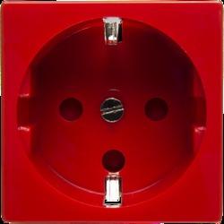Розетка 2К+З Mosaic 45х45 для выделения чистого питания с замком красная (SPL - 200002) арт. 200002