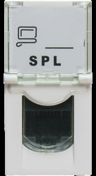 Розетка RJ 45 Mosaic категория 5е UTP 1 модуль белая (076551 - SPL - 200006) арт. 200006