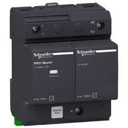 SE Acti 9 PRD1 MASTER Ограничитель перенапряжения 1P+N, класс 1, со сменными картриджами арт. 16361