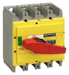 SE Compact INS/INV Выключатель-разъединитель INS320 3P красная рукоятка/желтая панель арт. 31128