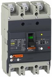SE EasyPact EZC Автоматический выключатель с дифференциальной защитой 25кA 415 В 3P3Т 175A арт. EZCV250N3175
