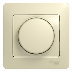 SE Glossa Беж Светорегулятор (диммер) поворотный, 300Вт (в сборе с рамкой) арт. GSL000234