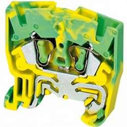 SE Миниклеммник пружинный, 15мм с заземлением, 2тчк, 2,5мм, желто-зеленый (NSYTRR22MPE) арт. NSYTRR22MPE