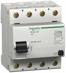 SE Multi 9 Устройство защитного отключения (УЗО) ID 4P 125А 300мА B 10кА арт. 16764