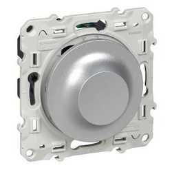 SE Odace Алюминий Светорегулятор поворотный 9-100Вт арт. S53R518