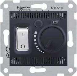 SE Sedna Графит Регулятор теплого пола 10А с датчиком арт. SDN6000370