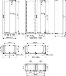SE Шкаф SMX 316L нерж.сталь 2000х1000х400 арт. NSYSMX201040H