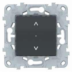 SE Unica New Антрацит Выключатель Wiser управление жалюзи арт. NU550854