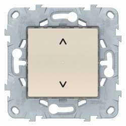 SE Unica New Беж Выключатель Wiser управление жалюзи арт. NU550844
