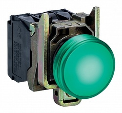 SE XB4 Лампа сигнальная зеленая светодиодная 24В арт. XB4BVB3