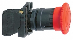 SE XB5 Кнопка аварийная грибок d 40мм 1НО+1НЗ возврат поворотом арт. XB5AS8445
