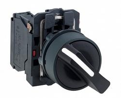 SE XB5 Переключатель 1-0-2 с фиксацией чёрный с возвратом арт. XB5AD53