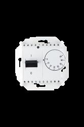 Simon 15 Белый Регулятор тёплого пола, с зондом, 16А, 230В, 3600Вт, 5-40град, IP20 арт. 1591775-030