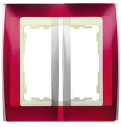 Simon 82 Гранатовый Металлик/Слоновая кость Рамка 2-ая арт. 82724-37