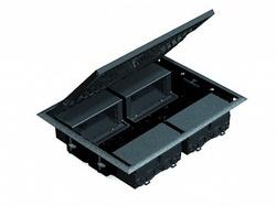 Simon Connect Серый Люк на 4 Cima-модуля 45х45 мм,горизонт.подключ., глуб. 69 мм арт. SF400-1