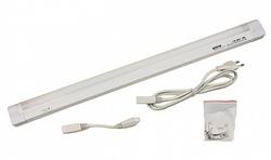 Светильник линейный с рассеивателем накладной (ЛЛ) 13Вт G5 220-230В пластик белый с выключателем с сетев. шнуром и вилкой Camelion арт. 3097