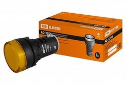 TDM Лампа AD22DS(LED)матрица d22мм желтый 230В TDM арт. SQ0702-0003